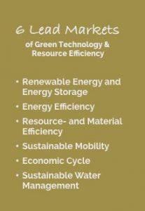 die 6 GreenTech Leitmärkte